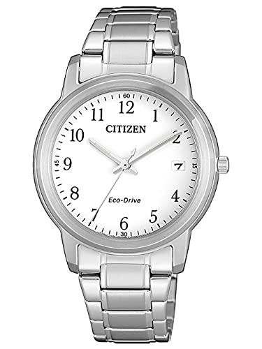 Citizen Reloj Analógico para Mujer de Cuarzo con Correa en Acero Inoxidable FE6011-81A