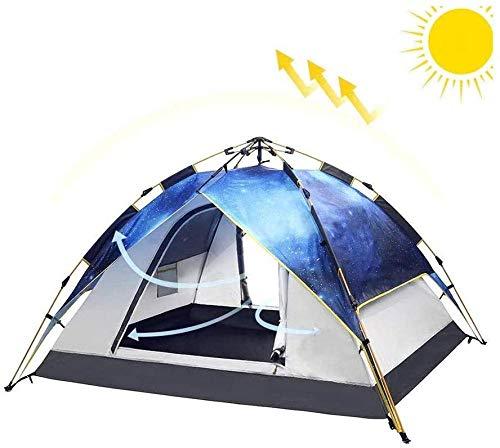 YAYY Outdoor Camping Tent Automatische Camping Pop-up Tent voor 2-3 persoons versie Hydraulische Tent Dubbele Laag Waterdichte Dome Tent (Upgrade)
