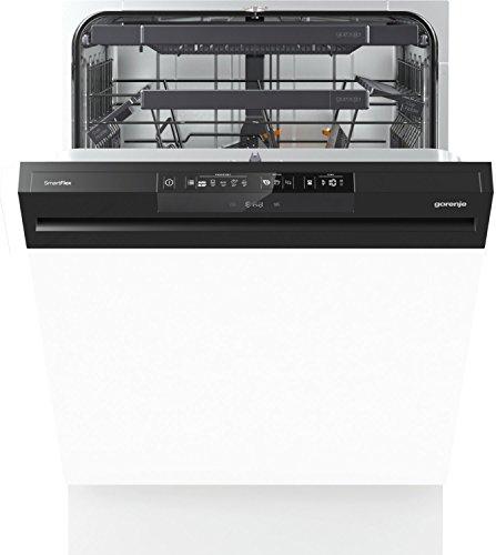 Gorenje GI66160 Semi intégré 16places A+++ lave-vaisselle - Lave-vaisselles (Semi intégré, White,Not applicable, Noir, boutons, LCD, 16 places)