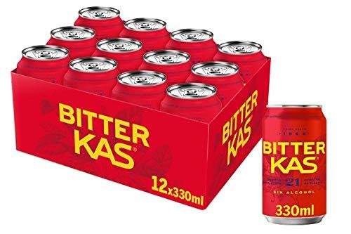 Bitter KAS - Bebida Refrescante sin Alcohol - 330 ml - [Pack de 12]