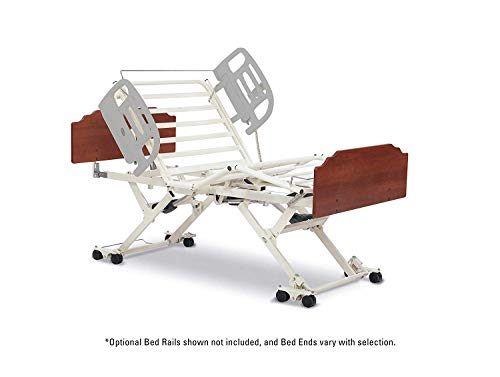 Invacare CS5 Full Electric Long Term Care Bed, 42' Wide, Amherst Style Bed Ends with Biltmore Cherry Finish, Assist Bar, IHCS5AMSBC42BAASFL-QSP