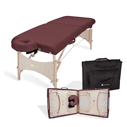 EARTHLITE Portable Massage Table HARMONY DX – Foldable Physiotherapy/Treatment/Stretching Table, Eco-Friendly Design, Hard Maple, Superior Comfort incl. Face Cradle & Carry Case (30' x 73')