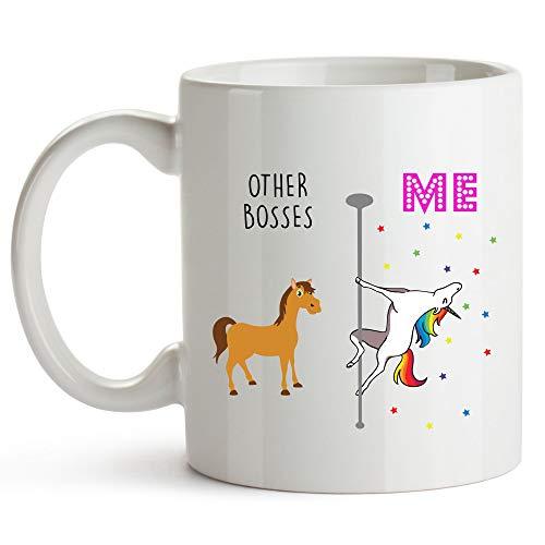 Younique Designs Boss Mug, 11 Ounces, White, Unicorn Mug, Boss Gifts, Boss Lady Gifts