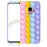 oqpa for Samsung Galaxy S9 Case Cartoon Kawaii Cute Fun Funny Silicone Design Cover for Girls Kids Boys Teen,Fashion Cool Unique Protective Cases Fidget Aesthetic Color Bubble(for Samsung Galaxy S9)