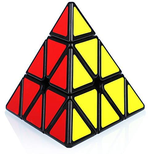 Maomaoyu Nouveau Pyraminx 3x3 3x3x3 Triangle Magique Pyramide Speed Magic Cube Puzzle Ultra Rapide (Noir)