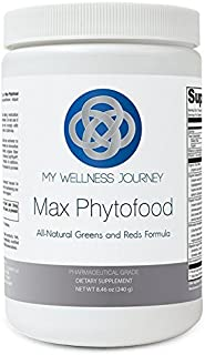 Greens & Reds Superfoods Mix- Max Phytofood with Probiotics, Phytonutrients, Digestive Enzymes & Fiber- All-Natural Antiox...