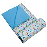Wildkin Kids Sleeping Bags for Boys & Girls, Measures 57 x 30 x 1.5 Inches, Cotton Blend Materials Sleeping Bag for Kids, Ideal for Parties, Camping & Overnight Travel, BPA-free (Mermaids)