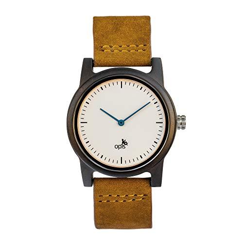 Opis UR-M4 Reloj Madera y Piedra para Hombre (Madera de Cebra/Mármol & Sándalo Negro/Lapislázuli)