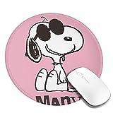 Snoopy スヌーピー マウスパッド マウスマット 丸型 円形 20*20*0.3cm ミニ マルチカラー オフィス用 ノンスリップ 滑り止め 耐久性が良い 防水 汚れにくい 掃除しやすい ゲーミングマウスパッド ノートパソコン コンピューター キーボード パターンマウスパッド デスクトップマウスパッド
