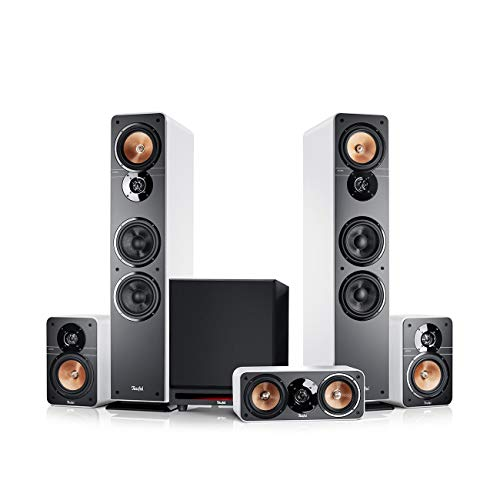 Teufel Ultima 40 Surround Power Edition 5.1-Set Weiß Heimkino Lautsprecher 5.1 Soundanlage Kino Raumklang Surround Subwoofer Movie High-End HiFi
