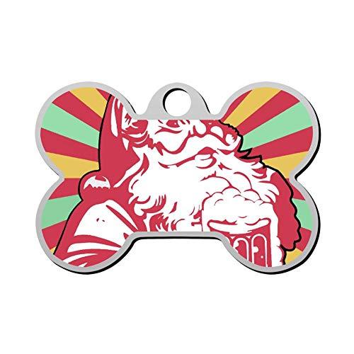 VinMea Custom Het is de mooiste tijd voor bier Kerstmis huisdier ID Tag Bone Shape Hond Tags & Kat Tags Identiteitslakken
