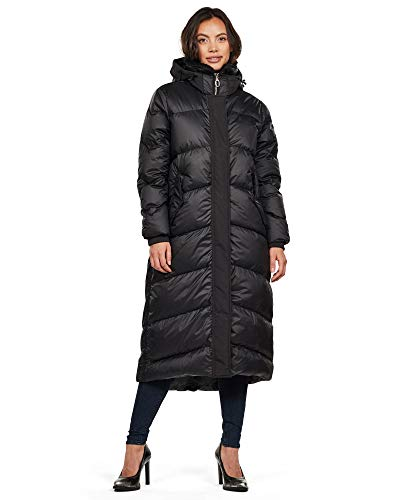 G-STAR RAW Damen Whistler Hooded Down Long Parka, Schwarz (Dk Black B418-6484), Small (Herstellergröße: S)