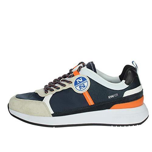 NORTH SAILS Scarpe Sneaker MOD. Wave 017 Navy Orange US20NS07