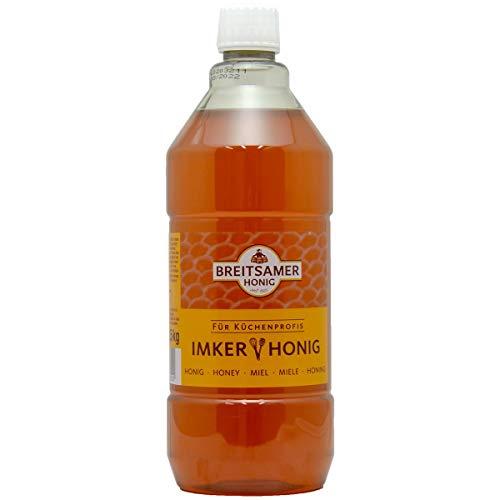 Breitsamer Blütenhonig Imkergold 1,5 kg Flasche