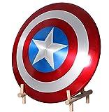 Avengers Réplica de Marvel Escudo Capitan America 60Cm, 1:1 Accesorios de Disfraces Retro de Halloween para Adultos Accesorios Bar Escudo Decoraciones Edición 75 Aniversario