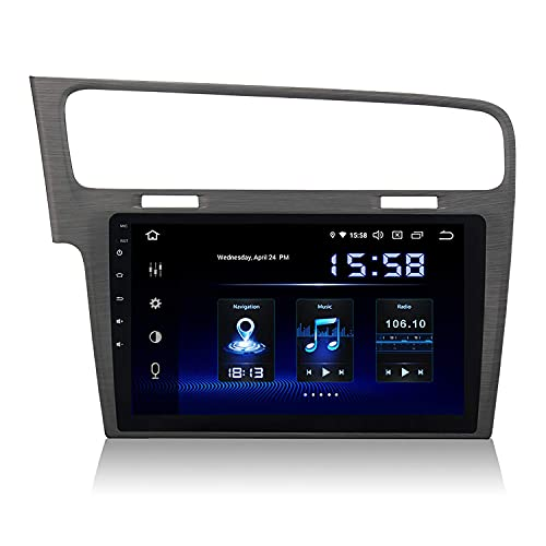 Reproductor multimedia para automóvil 10.2'Android 9.0 Single Din Car Radio DSP 4G RAM 64G ROM incorporado para VW Golf 7 2013 2014 2015 2016 Bluetooth Car Stereo Sat Nav Soporte Control del volante