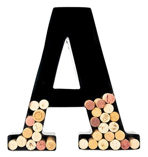 Wine Cork Holder - Metal Monogram Letter (A)