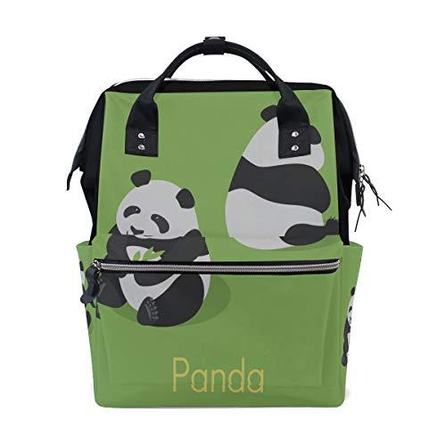 Chinesischer Panda Essen Bambus Große Kapazität Windel Taschen Mummy Rucksack Multi Funktionen Wickeltasche Tasche Tote Handtasche Für Kinder Babypflege Reise Täglichen Frauen