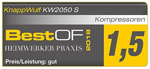 """KnappWulf Kompressor""""mucksmäuschenstill"""" Modell KW2050 8bar Druckluftkompressor 69dB - 6"""