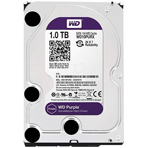 WD Purple Surveillance HDD | 1TB | HD Interno | 3.5'' SATA 3 | WD10PURX