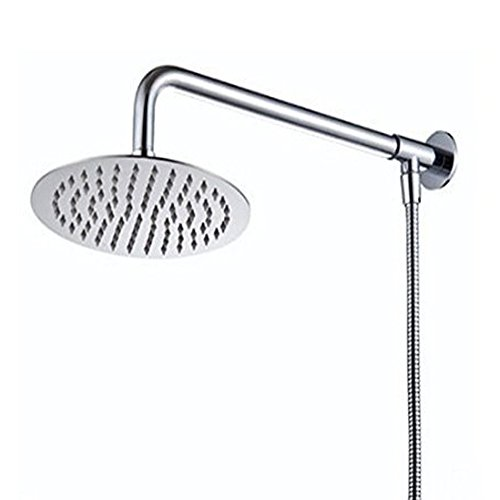 Hiendure® 30cm Montaje en pared Lluvia Redondo Alcachofa de la ducha Con brazo de ducha manguera de la ducha Acero inoxidable acabado cromo