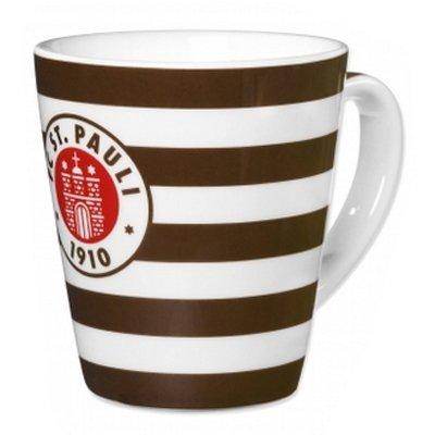 St. Pauli Kaffeebecher Logo Streifen