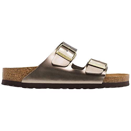 Birkenstock Unisex Arizona Birko-Flor Taupe Sandals 7 W / 5 M US