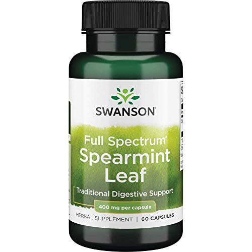 Swanson Spearmint Leaf Digestive Health Supplement Full Spectrum 400 mg 60 Capsules