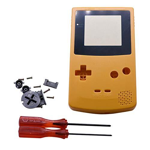 Henghx Ersatz Voll Gehäuse Shell Cover Hülle Teile Set w/Objektiv&Schraubendreher für Nintendo Gameboy Color GBC Console
