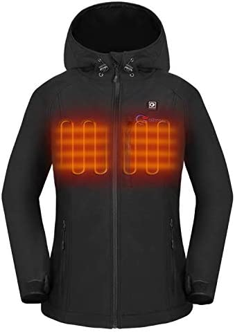 OUTCOOL Women s Heated Jacket with Hood Slim Fit Heating Jacket Type NJK1901 M product image