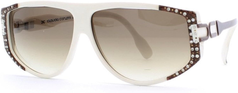 Claudia Carlotti Ornella CS 66 White and Brown Authentic Women Vintage Sunglasses