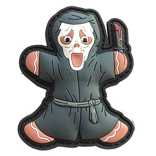 TACOPSGEAR Gingerbread Peperkoekmannetje Scream Killer Masker Horror Helloween Patch