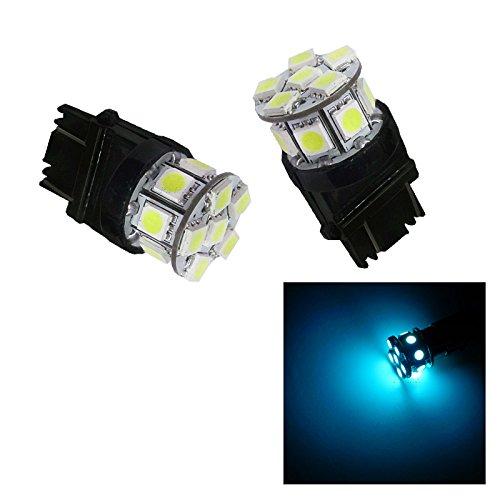 PA 2 x 13 LED 5050 SMD Signal Turn lumière 3057 3156 3157 Wedge Bleu glacier