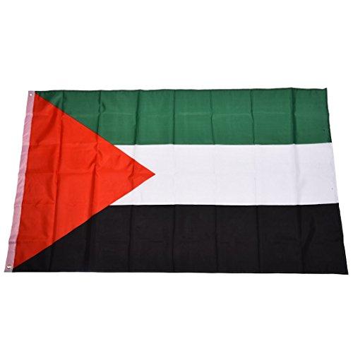 TOOGOO(R) Drapeau national de Palestine 5 Pieds x 3 Pieds
