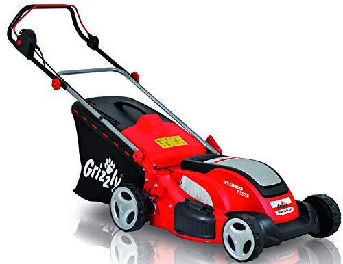 Grizzly Elektro Rasenmäher ERM 1846 GT mit Stahlgehäuse 1800 W Turbo Power Motor 46 cm Schnittbreite Mulchfunktion