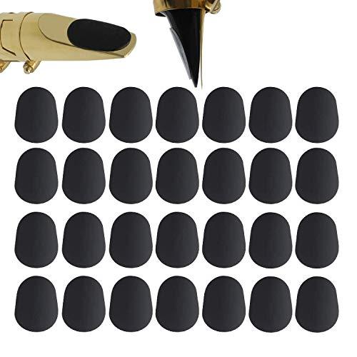 Clyhon 40 Stück Mundstückkissen 0,8 mm Mundstück Patches für Alt- und Tenorsaxophon und Klarinette, schwarz.