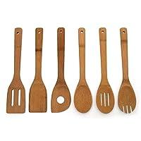 dfsf 6pcs / set cucchiai di bambù cucchiaio di legno utensile da cucina di bambù cucchiaio da cucina cucchiai da cucina set di cucchiai