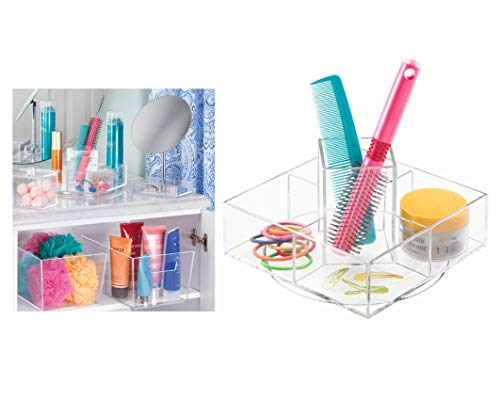 Price comparison product image iDesign Luci Turntable Cosmetic Organizer for Vanity Cabinet to Hold Makeup and Beauty Products,  Clear