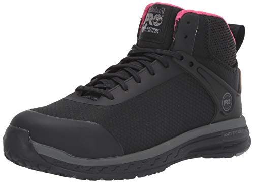 Timberland PRO Women s Drivetrain Mid Composite Safety Toe Industrial Athletic Work Shoe, Black, 8