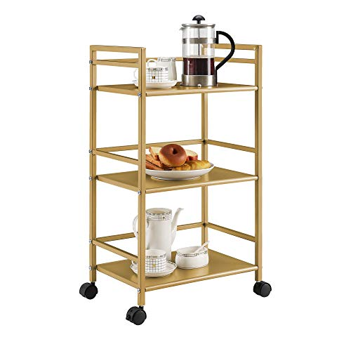 Novogratz Helix Utility Cart, Gold