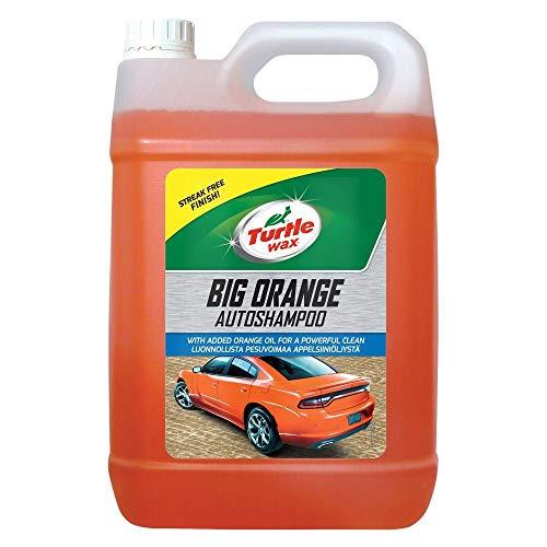 Turtle Wax 52817 - Champú para coche grande naranja con acabado sin rayas, 5 l, 1 unidad