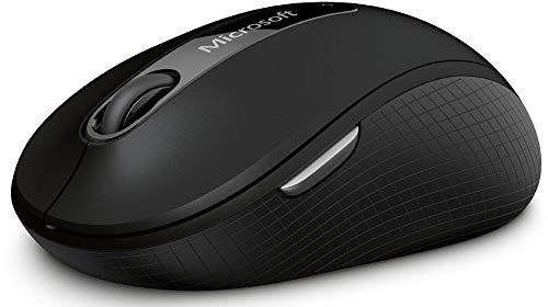 Microsoft Wireless Mobile Mouse 4000 (Maus, schwarz, kabellos, für Rechts- und Linkshänder geeignet)