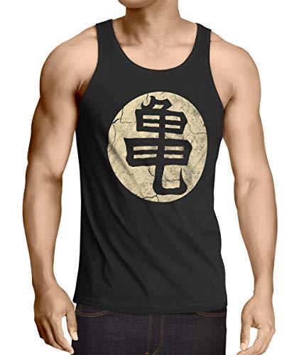 style3 Goku Roshis Turtle School Camiseta de Tirantes para Hombre Tank Top, Talla:XL, Color:Negro
