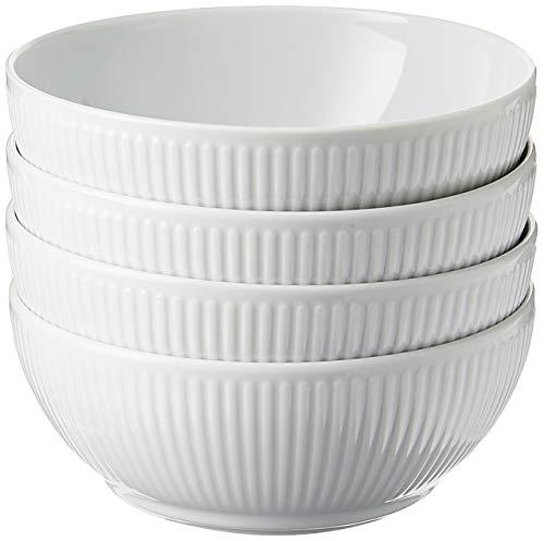 Bodum 11815-03 DOURO 4 stuks Porseleinen kommen 0,48 l, ø 14,5 cm, porselein, wit