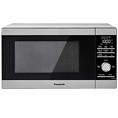 Panasonic NN-SD67LS Countertop Microwave Oven, 1100W with Genius Sensor Cook and Auto Defrost, 1.3 cft, Stainless Steel