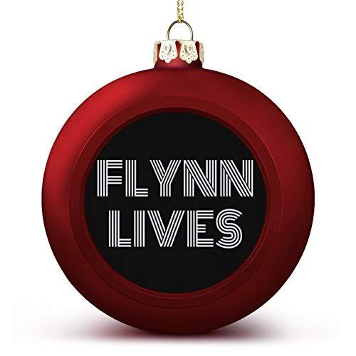 VNFDAS Flynn Lives Tron Legacy, Trucker Cap Personalizado Bola de Navidad Adornos Bellamente decorados Bola de Navidad Gadgets Perfecto para colgar bola para día festivo boda fiesta decoración