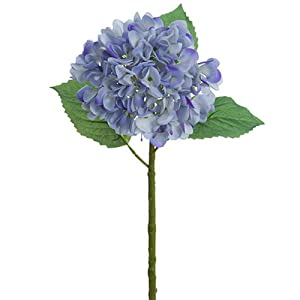 19″ Real Touch Silk Hydrangea Flower Stem -Delphinium/Blue (Pack of 6)