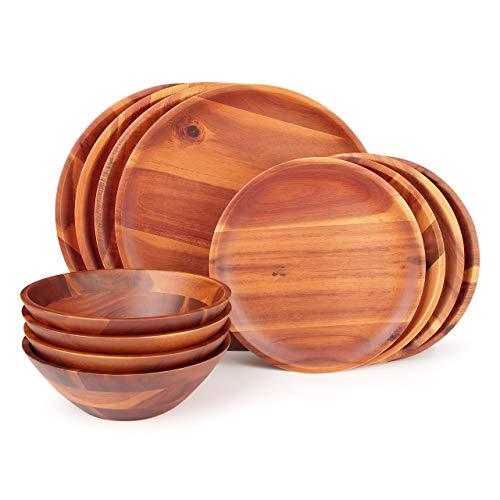 acacia wood plates - 8