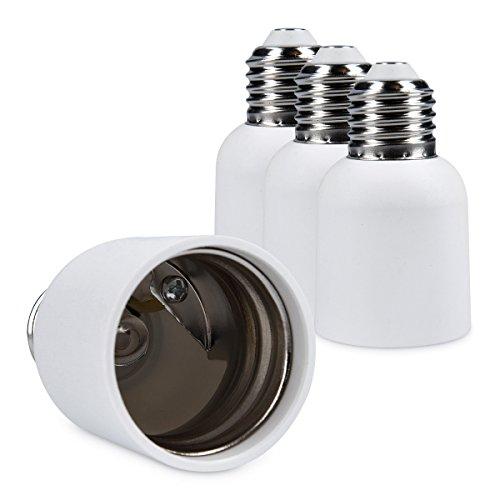 kwmobile 4x Lampensockel Adapter Konverter E27 Fassung auf E40 Lampensockel für LED-, Halogen-, Energiespar Lampen