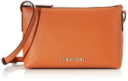 Calvin Klein Neat Crossbody - Borse a tracolla Donna, Marrone (Cuoio), 1x1x1 cm (W x H L)